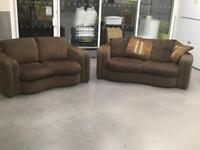 """Brown fabric sofa set""""FREE LOCAL DELIVERY """""""