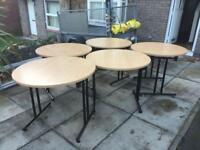 Folding tables ideal for office catering conference