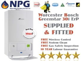 Worcester Bosch Greenstar 30i New ErP Combi *SUPPLIED & FITTED* £1199 *Which Awards 2017* *Midlands*