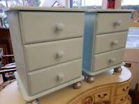Two Solid Pine Bedside Units