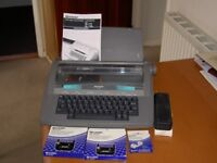 sharp electric typewriter incudes 2 spare ribbons, correction tapes and manual.Buyer collects