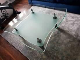 Glas coffe table