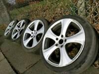"GENUINE KAHN RS-C 18"" AUDI VW MERCEDES FITMENT ALLOY WHEELS 5X112"