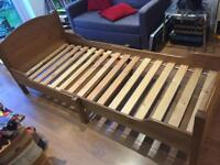 Ikea pine extendable toddler bed
