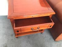 Hardwood Side Table (x2)