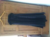 Black Prom Dress Dorothy Perkins Size 14 Full length Shoestring straps