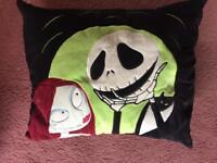 Pumpkin Jack & Sally collectors cushion