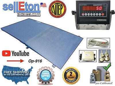 Industrial Optima Ntep 4 X 4 Legal Floor Scale Ramp 10000 Lbs X 2