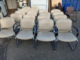 20 Leather reception waiting meeting chairs. Deliver offered
