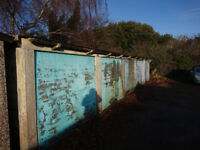 Block of five garages (freehold) for sale and freehold land and access in Eastbourne