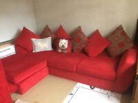 Red corner sofa £250