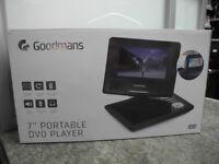 "Goodmans 7"" portable dvd player"