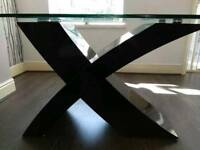 Glass top barker and stone house table