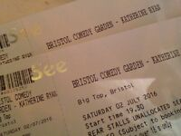 2 tickets for KATHERINE RYAN on Saturday 2nd July 2016 at Bristol Comedy Garden