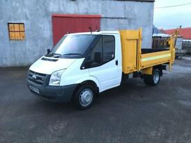 Ford transit tipper with tail lift