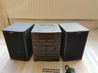 Sony CD Midi System inc 2x Speakers and 3.5mm to phono jack