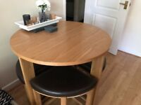 Dining table and chair - excellent condition