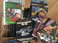 Doctor Who / Star Trek books and magazines - over 85 items.