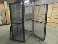 Metal secure storage cage 800 x 1500 x 1800 ideal for shop or safely storing possessions
