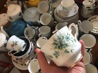 Tea cups and saucers, teapots and plates
