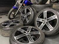 "17"" inch Vw Cadiz alloys wheels 5x112 caddy golf r gtd t4 passat cc touran eos transporter"