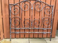 Bespoke Wrought Iron Bedhead to fit double bed