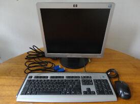Computer flat monitor, Keyboard, Mouse, VGA cable