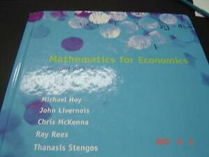 Mathematics for Economics Second Edition