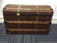 Antique trunk original liner