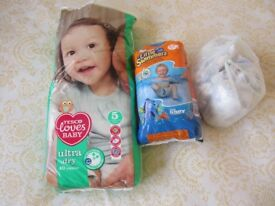 ***~*~*** FREE Size 5-6 Nappies including Swimming Nappies ***~*~***