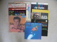 37 Vintage Vinyl (Jazz, swing, rock & roll) - Sinatra, Elvis, Ray Charles, etc - Please read advert