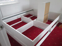 IKEA EURO SIZE DOUBLE BED WITH MEMORY FOAM MATRRESS VERY STRONG BED