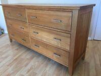 Solid Light Oak sideboard/chest