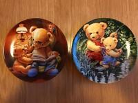 2 German Teddy und Seine Freunde Plates
