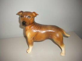 Stafforshire Bull DOG Made in England Large dog Vintage