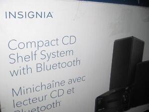 Insignia CD Player / MP3 Audio Speaker System. Bluetooth. Wireless. Remote. USB. AUX. FM Radio. Samsung Phone / Iphone