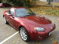 2006 56 MAZDA MX-5 ROADSTER 2.0 RED PRESTINE ELECTRIC ROOF HEATED LEATHER 6SPD GOOD TYRES PX SWAPS