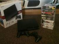 Ps3 with 24 games 2 controllers