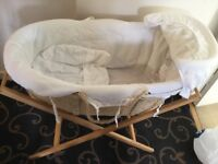 Baby mamas and papas moses basket no mattress included With m&p stand basket, without mattress