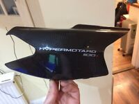 Hypermotard 1100S original carbon exhaust shield