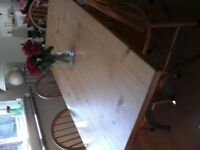 Solid Beech Dining Room Table and Chairs