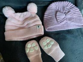 Joules hat & mittens 0-6 month