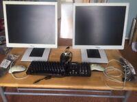 Pc monitors+ keypad+ monitor cables