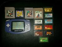 Gameboy advanced + games