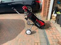 Men's Left Handed Golf Clubs, Bag and Trolley