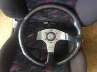 honda civic momo race steering wheel with boss eg eg6 eg5 del sol crx vti sir