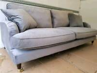NEW Designer Rupert Steel 4 Seater Sofa DELIVERY AVAILABLE