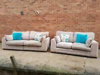 Cream DFS Sofa Set