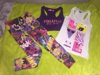 Girls clothing (shirt /leggings) bundle (small)
