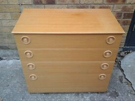 Retro's 1970's chest of 4 drawers